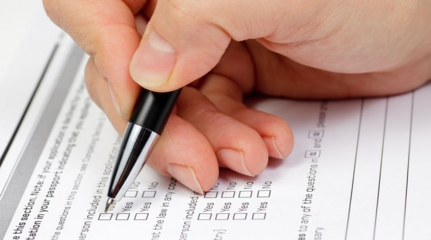 check boxes for a diagnostic test