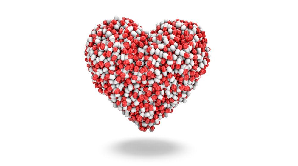 heart made of pills