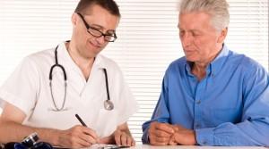 nurse and elderly man