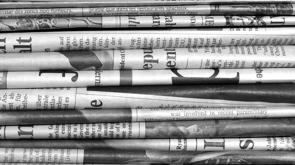 reporting in newspapers