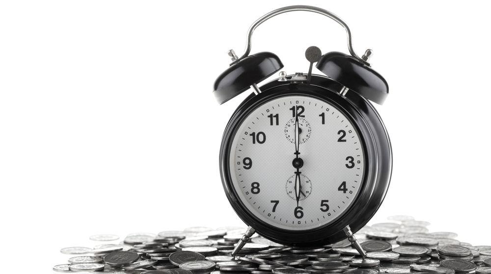 clock on money