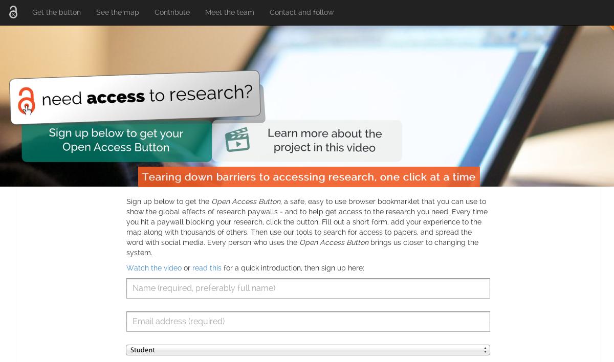 The Open Access Button  website