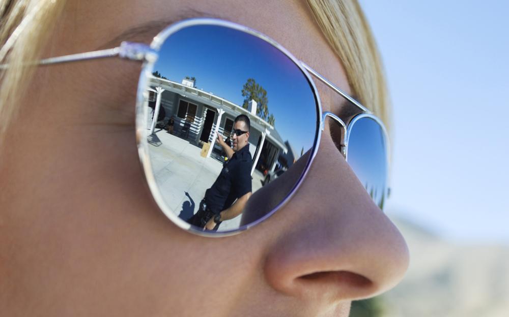 police in sunglasses