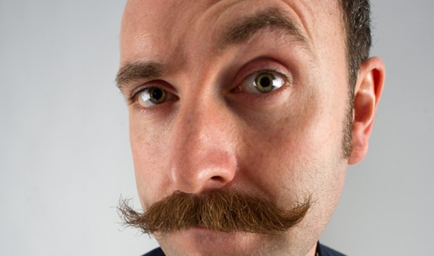 man with a moustache