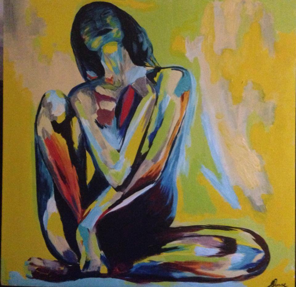 Painting by Jodie Dunne, from Endometriosis Awareness through Art Association
