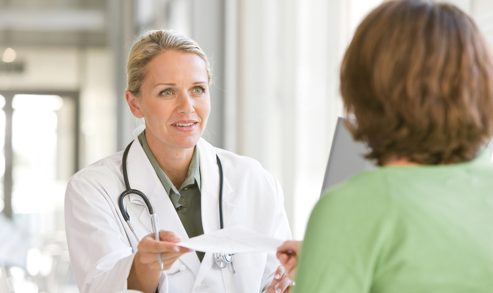 Woman visiting the doctor