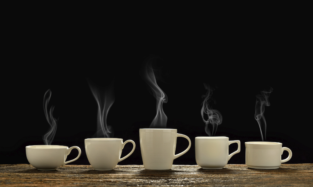 Five cups of coffee