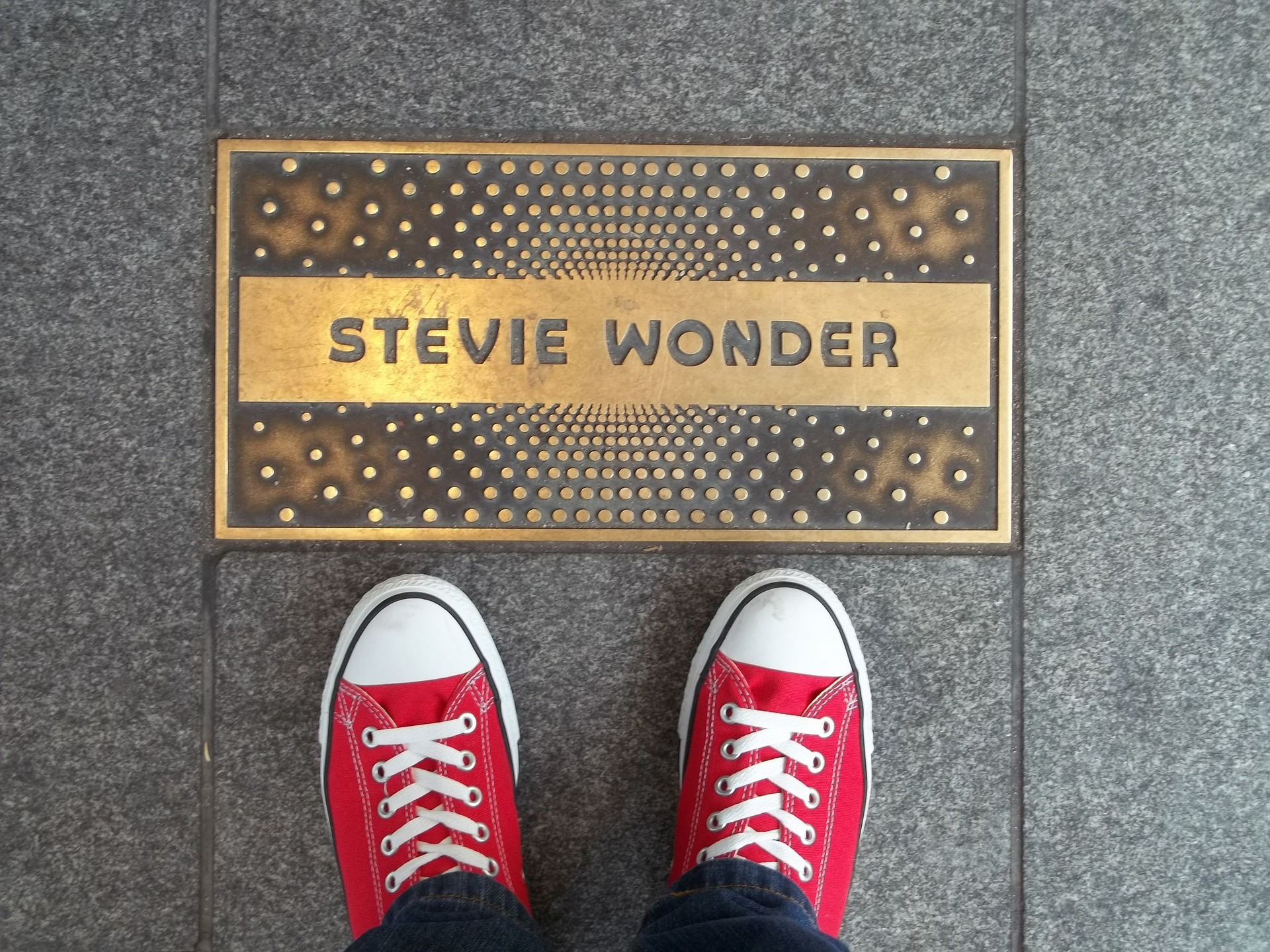 Stevie Wonder plaque