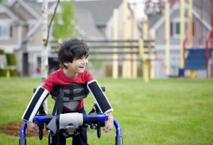 boy with cerebral palsy