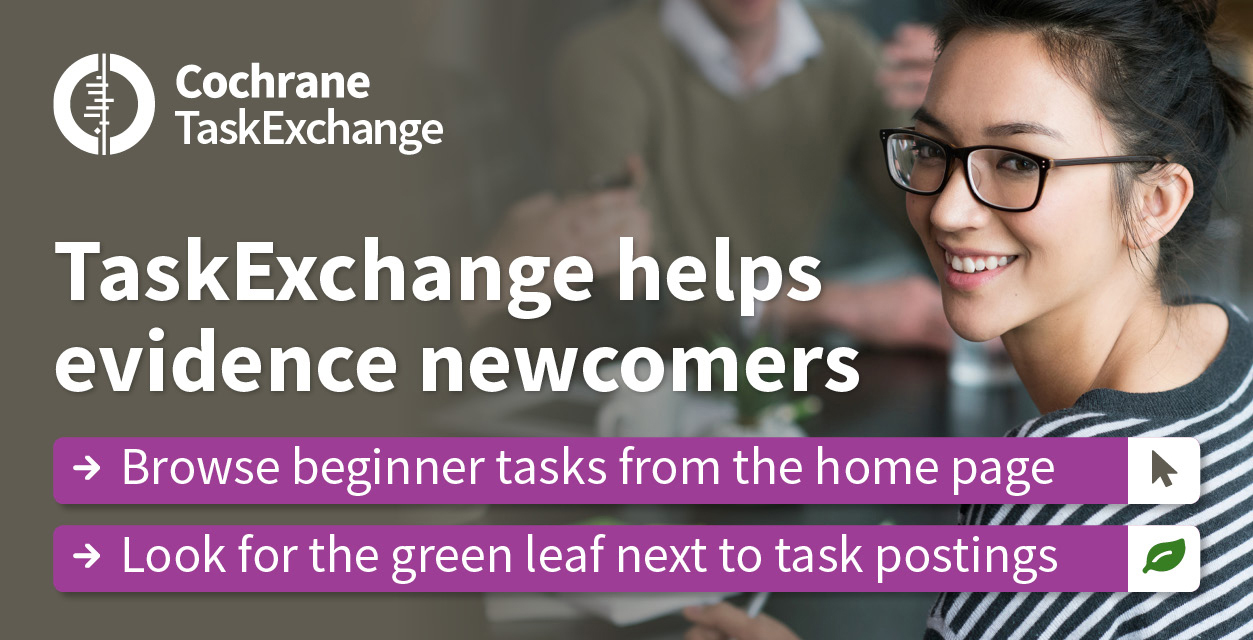 TaskExchange explanation over picture of woman with glasses
