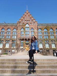 Chiara Nava outside of Lund University