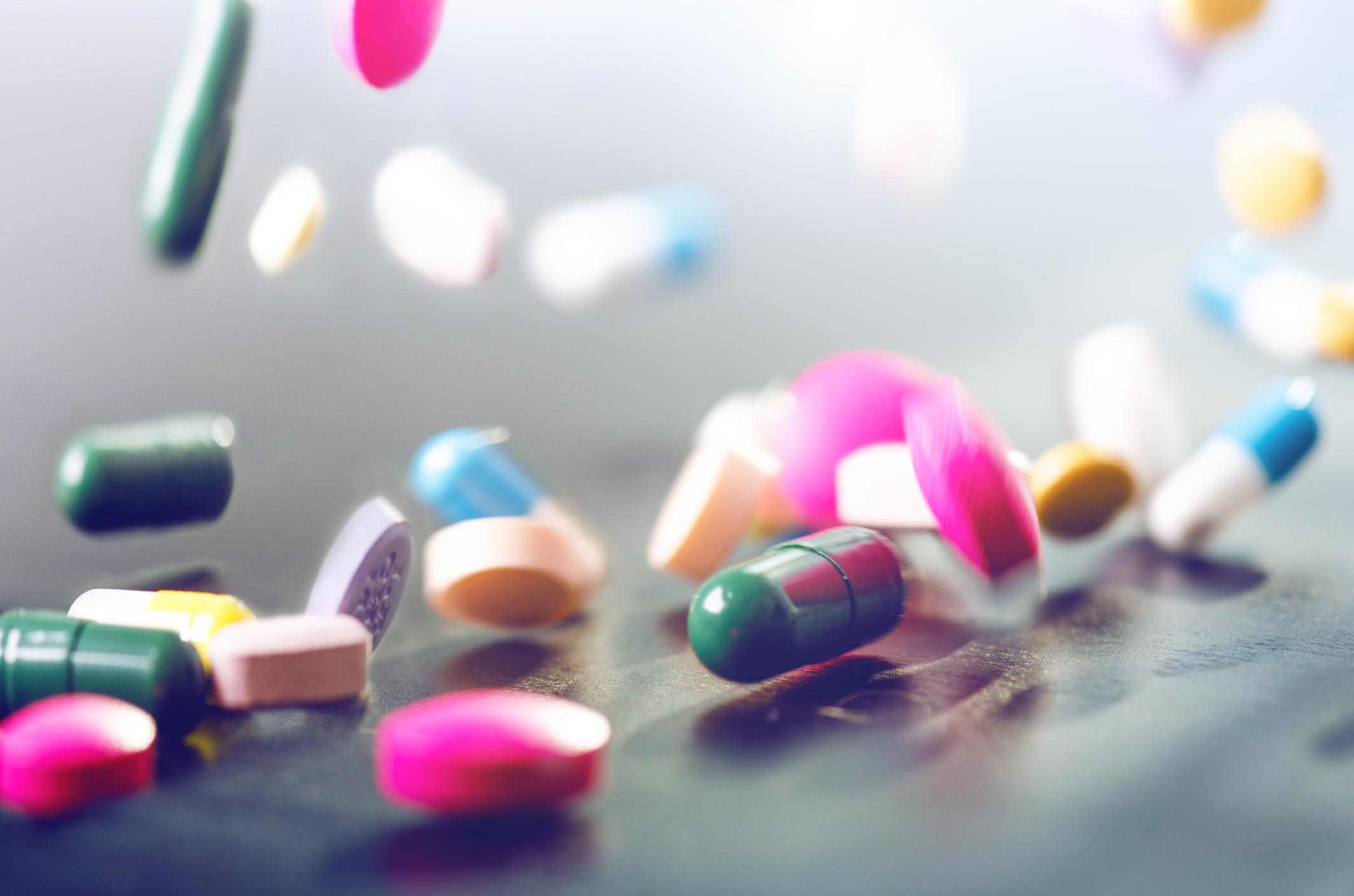 Antibiotics levitating